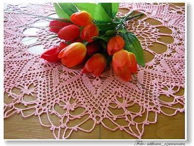 różowa serweta