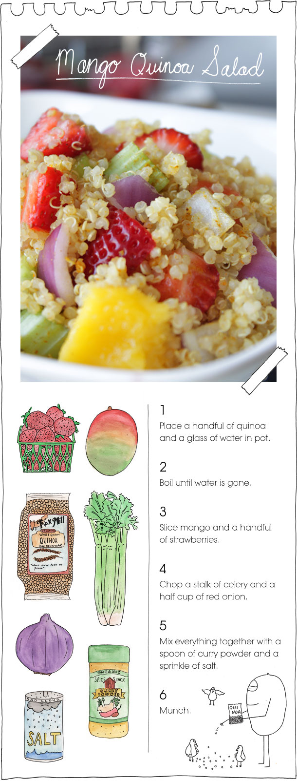 The Vegan Stoner's Mango Quinoa Salad