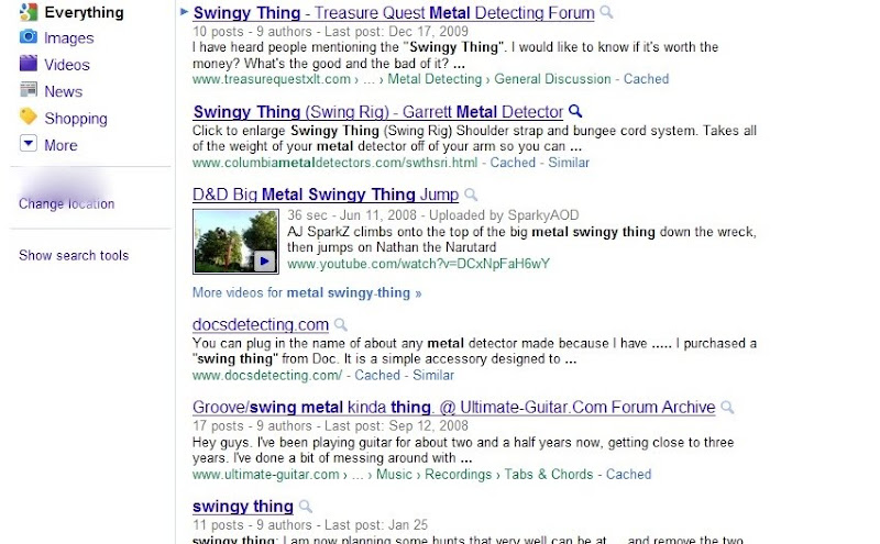 Metal swingy-thing Goggle search results