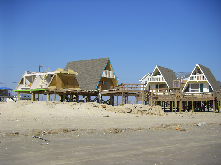 Surfside Beach - Visible damage after Ike. The roof no longer exists.