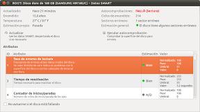 0076_ROOT: Disco duro de 160 GB (SAMSUNG HM160JC) – Datos SMART