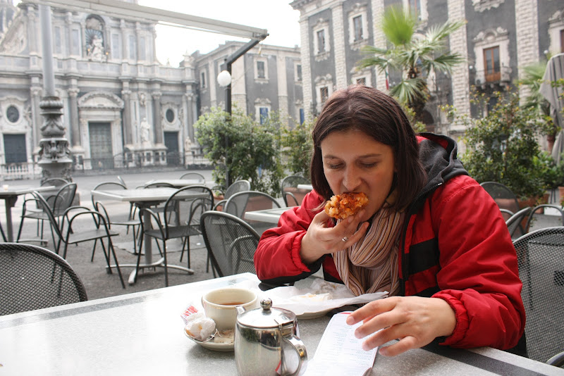 Arancina in Cafel dell Duomo, Catania