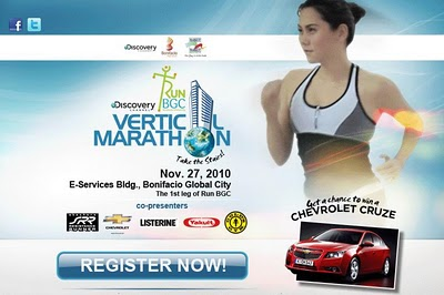 Discovery BGC's Vertical Marathon : A Free Race Kit Sorta Contest Thing