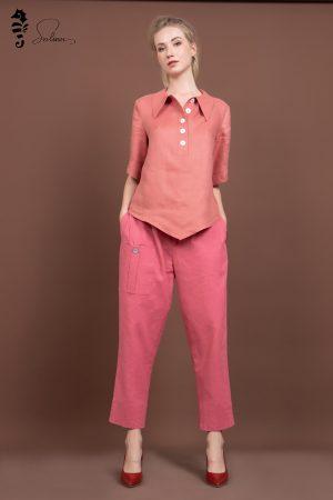 Những chiếc áo sơ mi nữ form rộng tay lỡ mix với quần suông
