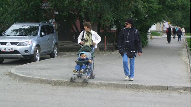 пересечение тротуара с проезжей частью
