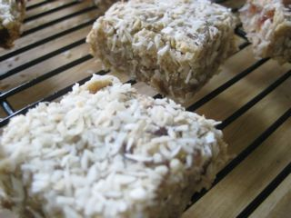 Lemon, Coconut and Ginger Energy Bars - Photo Courtesy of Mary Harvey
