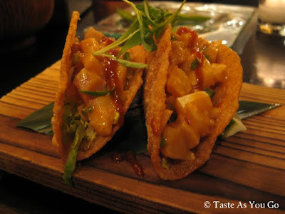 Crispy Yellowtail Taquitos at SUSHISAMBA park in New York, NY - Photo by Taste As You Go