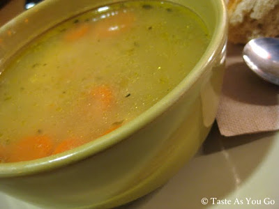 Low-Fat All-Natural Chicken Noodle Soup from Panera Bread - Photo by Taste As You Go