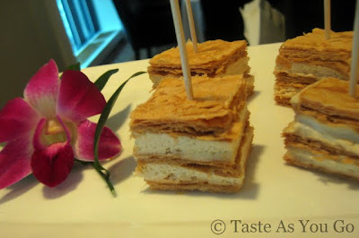 Foie Gras Napoleons at Fives at The Peninsula New York in New York, NY - Photo by Taste As You Go