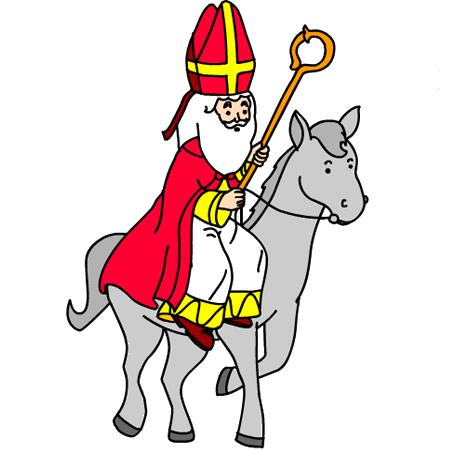 Dessin a colorier de saint nicolas - Dessiner un ane ...
