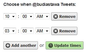 waktu tweet Menjadwalkan Tweet Otomatis dengan Buffer