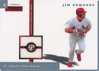 2005 Topps Pristine Edmonds Jersey Pieces
