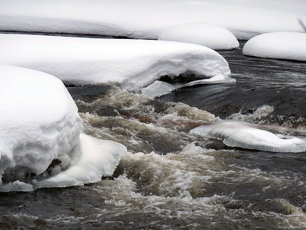 Raquette River in Stone Valley - winter whitewater