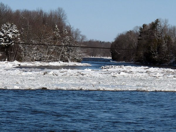 Grasse river ice jam at chemberlain corners, mar 8