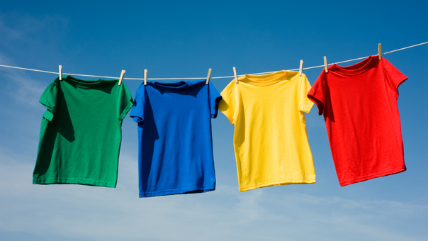 Air Dry washed clothes