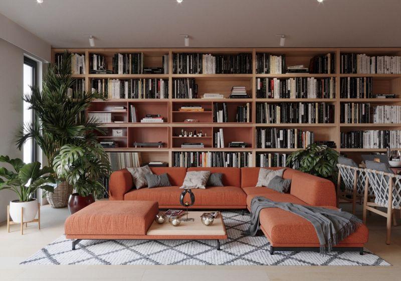 Phòng đọc sách tiện nghi và hiện đại