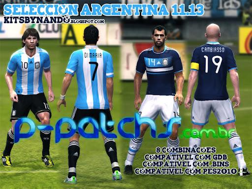 Seleção Argentina Kitset 11-13 para PES 2011 PES 2011 download P-Patchs