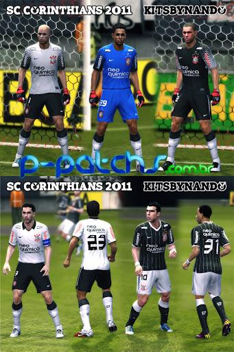 Corinthians Kitset 11-12 para PES 2011 PES 2011 download P-Patchs