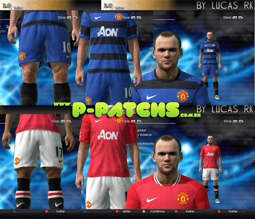Manchester United 11-12 Kitset para PES 2011 PES 2011 download P-Patchs