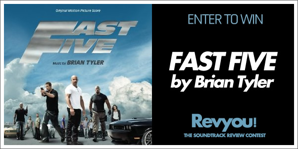 Enter to Win FAST FIVE (Original Score) by Brian Tyler