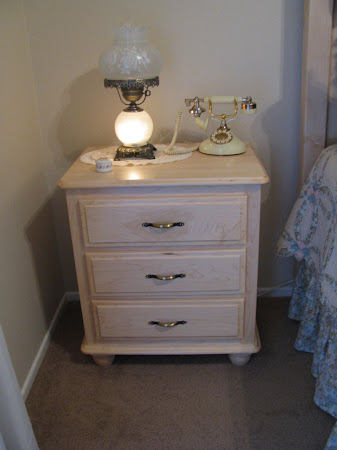 Lotus Nightstand with Drawers, in Natural Hard Maple, with Custom Hardware