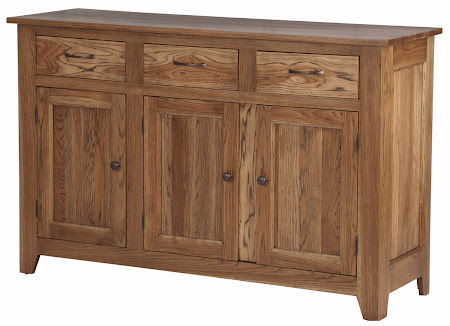 "36"" high x 62"" wide x 20"" deep Modern Shaker Kitchen Buffet in Natural Cherry"
