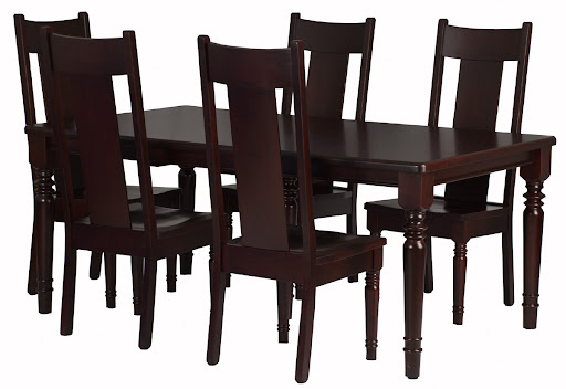 "42"" x 42"" Farmhouse Table with two 12"" Leaves and Farmhouse Chairs, in Rich Cherry"
