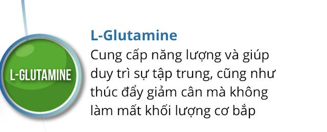 Keto slim có L-Glutamine cung cấp năng lượng