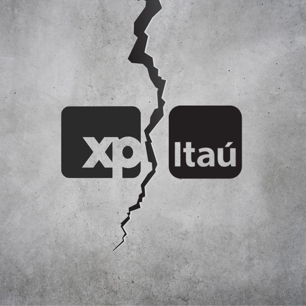 Cisão entre XP e Itaú.