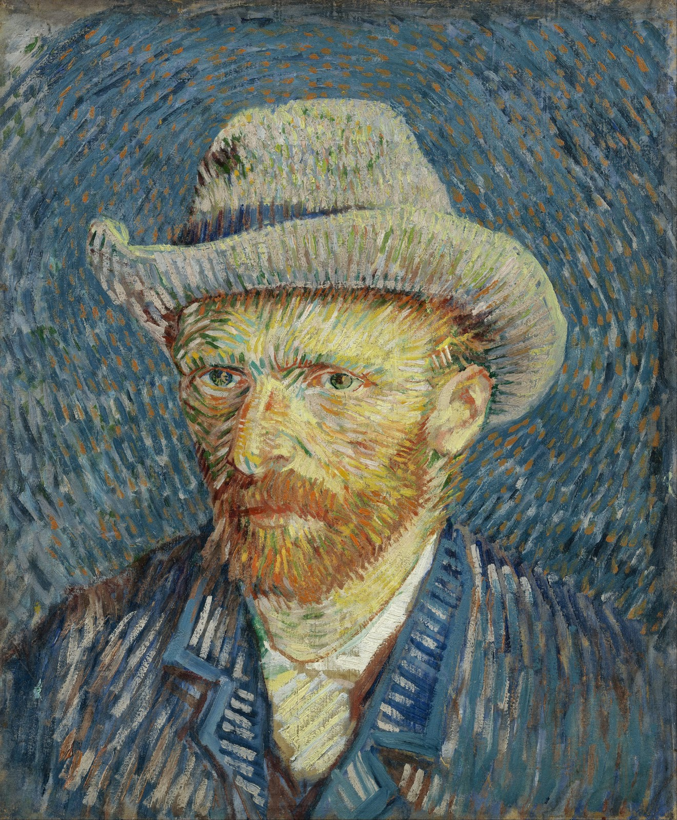self portriat of Van Gogh