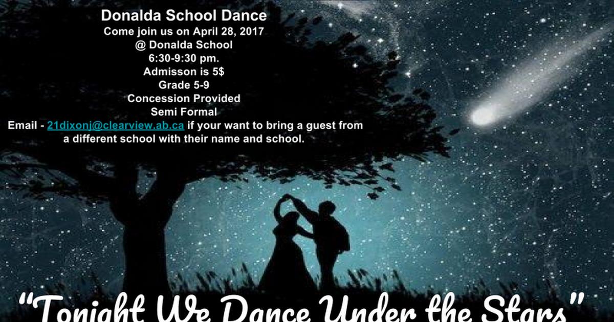 Thumbnail for Donalda School Dance Poster