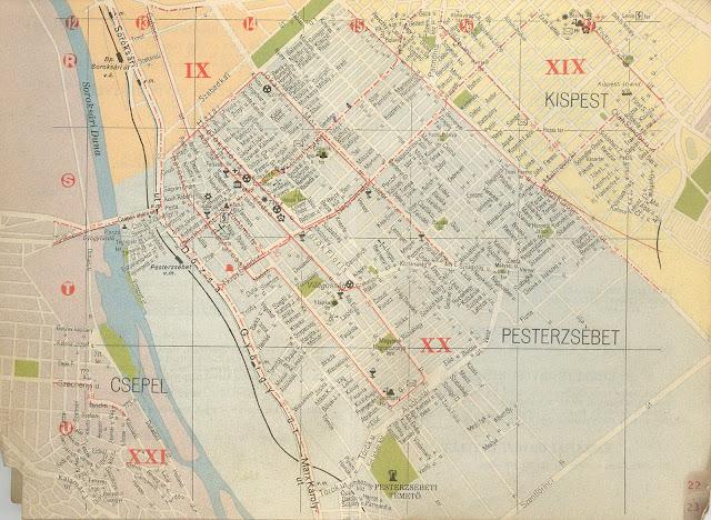 budapest térkép soroksár PESTERZSÉBETI ÉRDEKES: Pesterzsébet 1958 térkép és BKV (1.r.) budapest térkép soroksár