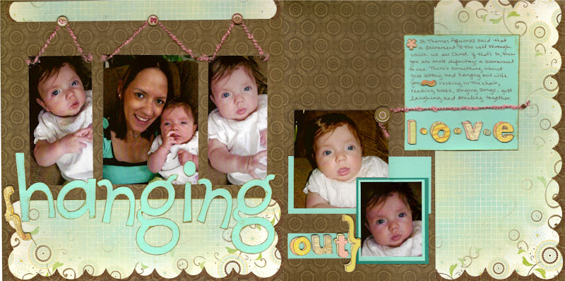 Baby scrapbook layout ideas