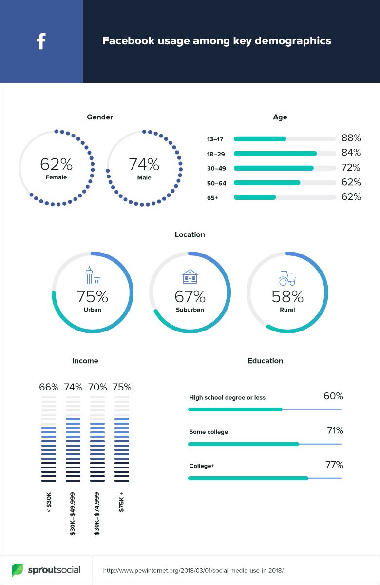 facebook demographic data 2019