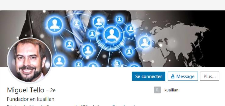 LinkedIn de Miguel Tello, le fondateur et big boss présumé de Kuailian