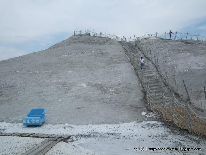 台南七股鹽山-鹹冰棒、不會沉的游泳池