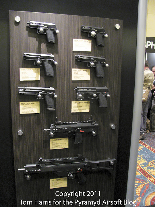 Airsoft Guns, Shot Show 2011 Coverage, Las Vegas, KWA,Adaptive Training Pistol, M226, KP45 Match Tactical, MK23 SOCOM, G36K, MP7,Gas Blowback Pistols, Airsoft GBB Pistol, Airsoft Submachine Gun, Magpul Folding Pistol Gun,GBBP, FPG, Mk23, USP, SPHINX, KZ75, TKV33,  K945, Pyramyd Air, Pyramyd Airsoft Blog, Airsoft Obsessed, Airsoft Blog,