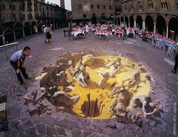 3D Pavement Illusions By Kurt Wenner