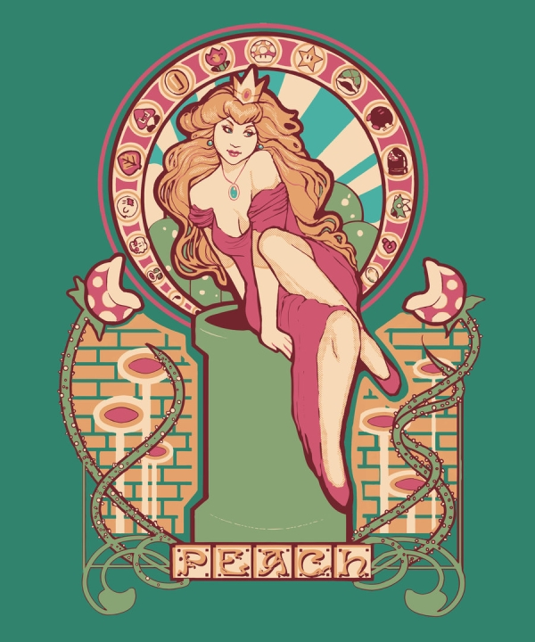 Princesa Peach Art Nouveau