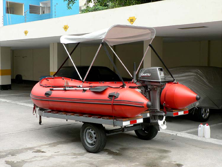 How to install a bimini top (canopy) onto inflatable boats 1