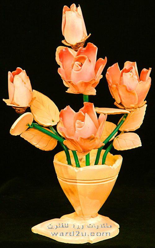 باقات زهور من صدف و قواقع