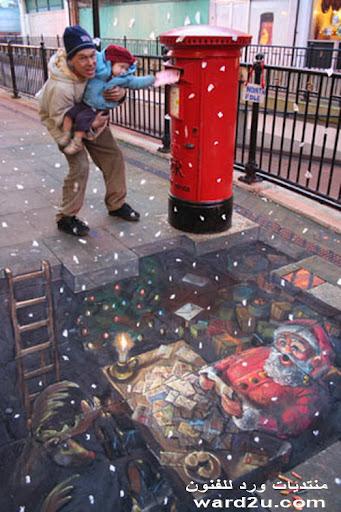 رسام الارصفه Julian Beever