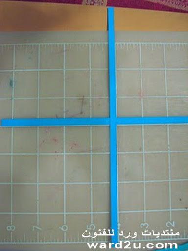 نسيج  ورق بسيط للزينه مع شرح الخطوات