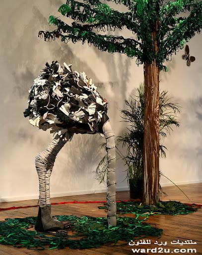 تشكيلات فنيه من احذيه ورباط وجلد صناعى