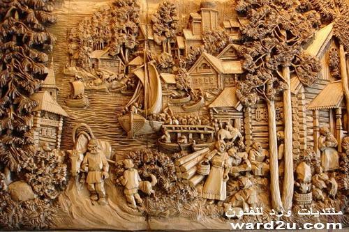 ريليف بارز تابلوهات رائعه نحت على الخشب  Gogolev