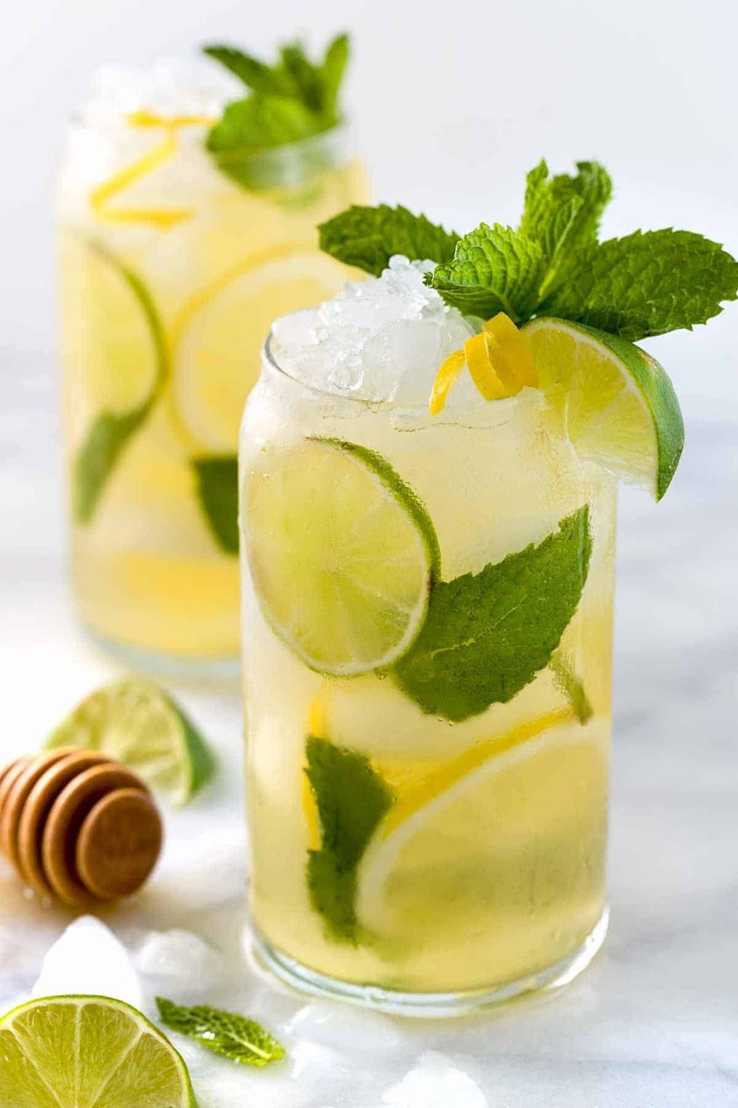 jasmine mint lemon iced tea