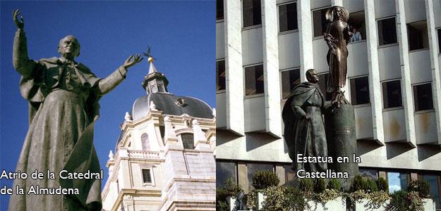 Estatuas de Juan Pablo II en Madrid