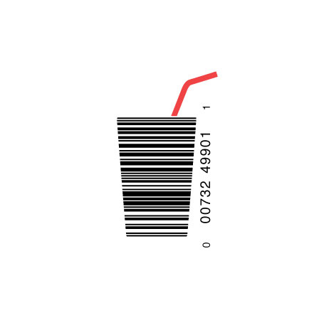 44 cool and creative bar code designs for Barcode food