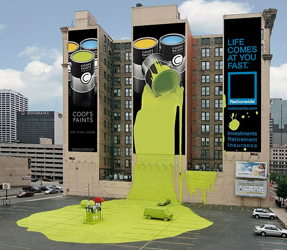 20 clever ads on buildings for Ad agency in usa