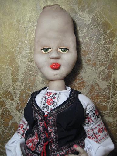 """Садовая кукла """"Великолепная Солоха"""" от Заполарии"""